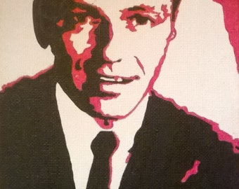 Frank Sinatra hand painted pop art canvas