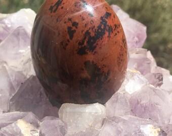 SALE! Mahogany Obsidian Yoni Egg Undrilled