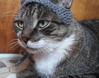 Shark Cat Hat, knit hat for cat