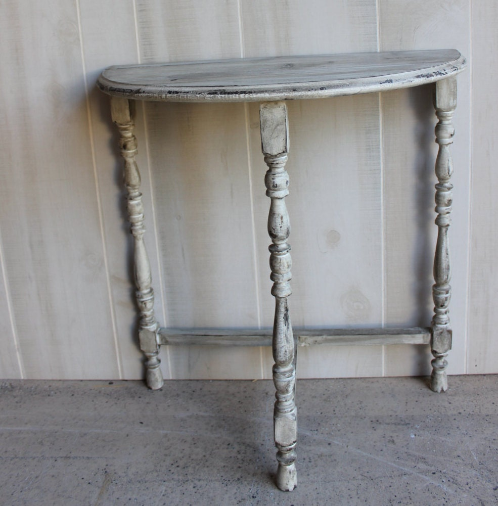 Shabby Chic Table Demilune Vintage Half By