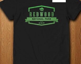 Redwood National Park T Shirt California America State Park