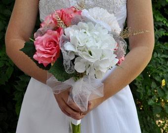 The Donna bouquet, bridesmaid bouquet, wedding accessories, bridal bouquet, handmade, silk flower bouquet, silk bridesmaid bouquet