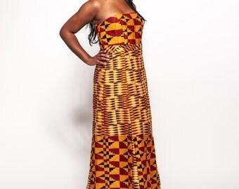 Bonwire Kente African Gown