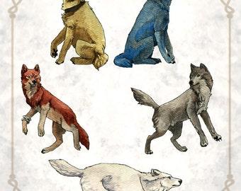 Wolf's Rain Print