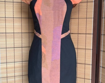 Straight dress in Color Block