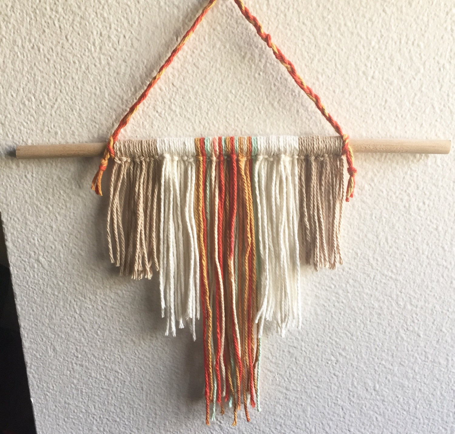 Dorm Room Wall Decor Etsy : Natural yarn wall hanging boho inspired room decor dorm by