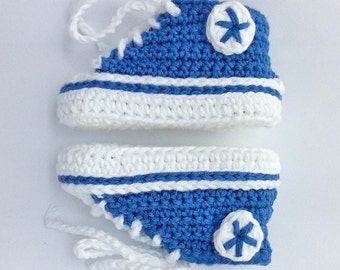 Baby Converse Shoes - Custom Crochet, Baby Converse, All-Stars, Baby Shoes