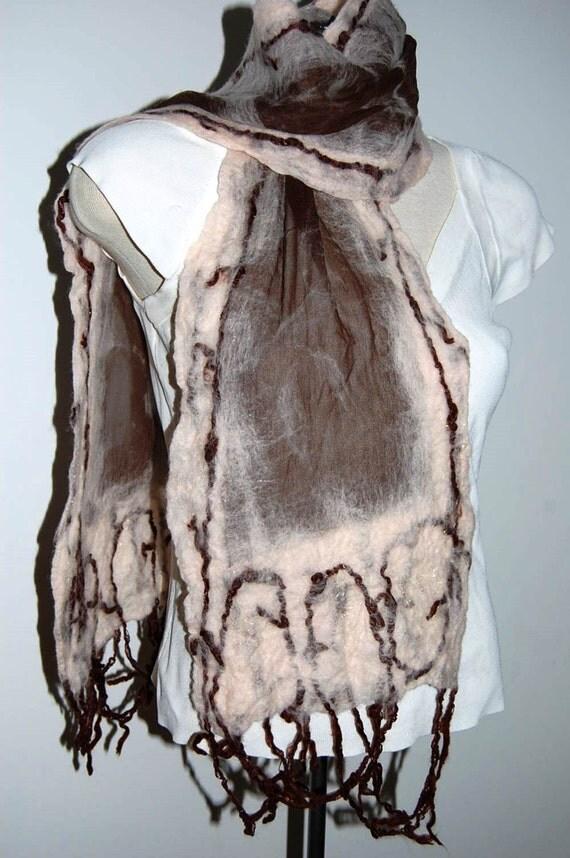 unique handmade scarf womens scarves nuno felted scarf