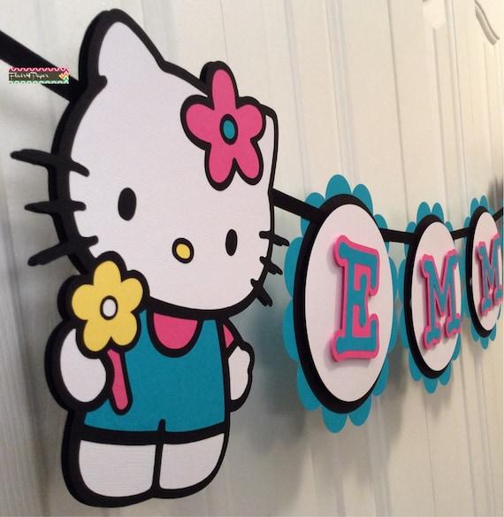Custom Hello Kitty Party Banner