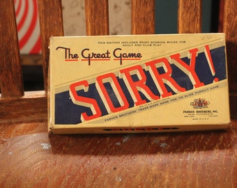 Sorry! Parker Brother's 1950s Game