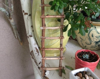 Unique Hand Crafted Ladder for miniature garden