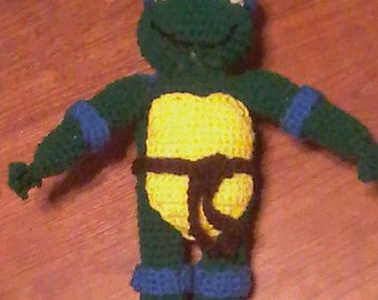 Crocheted Teenage Mutant Ninja Turtle
