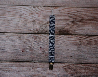 Baby/ Toddler Binki/ Pacifier Clip/ Navy and White