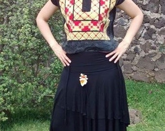 Frida Kahlo Mexican blouse Huipil Vintage from Oaxaca