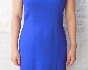 80s keyhole royal purple party dress size 4 S/M