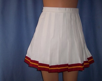 Cheerleader Christmas USC Skirt Uniform Football Game Costume NEW