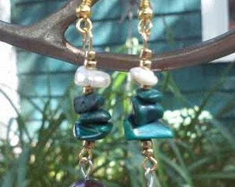 Malachite ~ SoulSpeaker Charmed Earrings (One of a Kind)