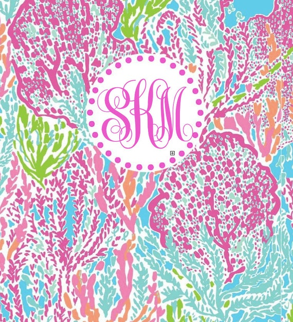 Lilly Pulitzer Monogrammed Printable Binder Cover