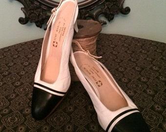 Vintage Rene Mancini Two Toned Slingback Heels-size 8