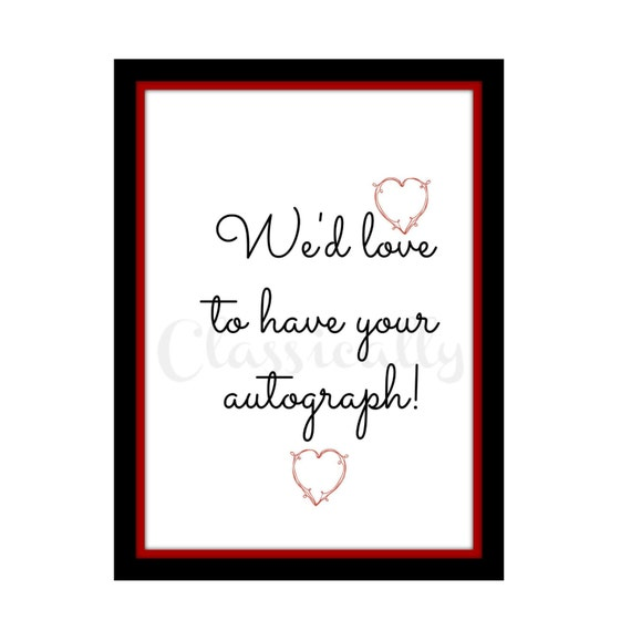 Wedding Guest Book Printable sign, Wedding Anniversary DIY Sign in Red and Black