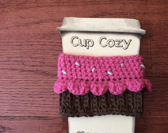 Sprinkle Cupcake Cup Cozy - FREE SHIPPING