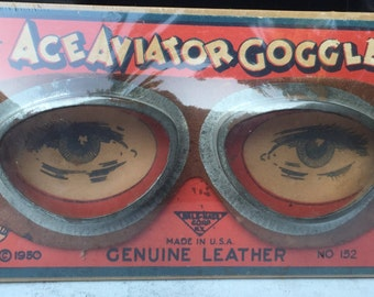 Vintage Steampunk Ace Aviator Toy Goggles Reduced Price
