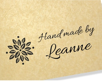 Personalised Clear Stamp - Hand Made By Stamps - Flower Stamp