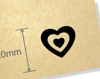 Clear Acrylic Stamp.Concentric Hearts stamp