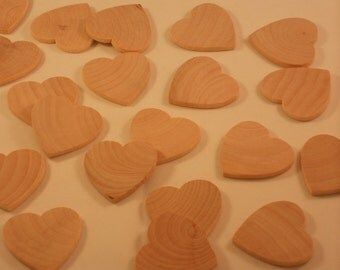 50 Wooden Hearts, Wood Heart, Wooden Hearts, Unfinished Wood Hearts, Wedding Guest Book Hearts Wedding Favors