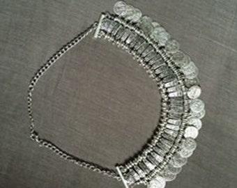 Vintage Silver Coin Necklace