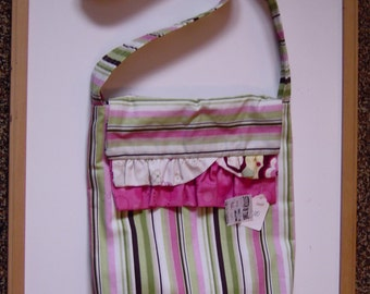Tote bag in Pink and Green Multi fabric