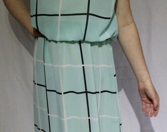 1980s Melbourne made blue check dress / check me out!