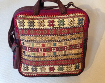 Kilim Handbag - One of a Kind, Handmade Persian Kilim Handbag