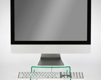 Perspex Acrylic iMac Monitor Riser & Keyboard Stand | Premium acrylic | Made in the UK