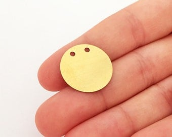 20 mm 30 pcs Stamping Blanks findings charms pendant