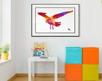 Young Colorful Crow Print Instant Download Printable Art Wall Decor Crow Art Digital Art Abstract Bird Print Kids room Affordable Art Print