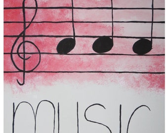 Music Is My Escape Painting Triple 3 Canvas Board