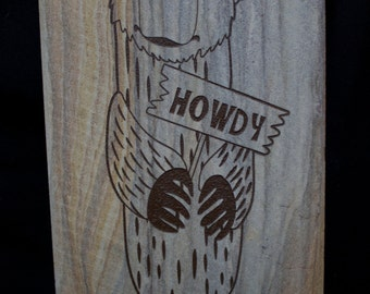 Howdy Sign - Bear