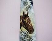 Hand PAINTED Men's Vintage 1940's HORSE Tie, Forties SWING or Rockabilly Cravat NeckTie