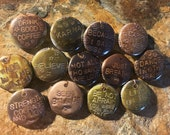 """Four (4) Motivational Inspirational One (1"""") Inch Steel Pinback Button Assortment  - Pins - Buttons - Images of My Jewelry by Jean Skipper"""
