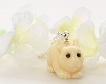 Bunny Rabbit Pendant Necklace Little Blanca - Rabbit Jewelry - Bunny Rabbit Inspired - Bunny Pendant
