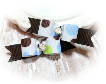Dog Bows for Boys / Small Pet Bows with Dots / Dog Grooming Bows / Pet Hair Bows for Small Dogs