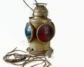 Handlan Railroad Lantern St Louis USA, Vintage Train Caboose Light, Works, Industrial Decor Lamp