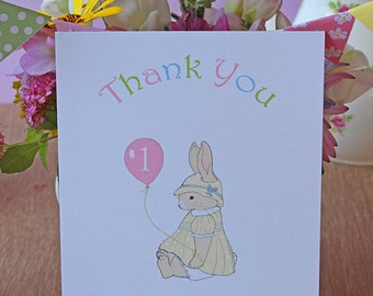 Primrose Bunny Party - Thank You Cards