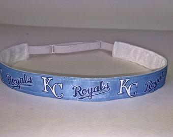 KC Royals Non-Slip Adjustable Headband - KC Royals Headband - Kansas City Royals Headband - One Size Fits All