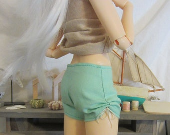 Separates: Bright shorts with gathers, for Minifee dolls