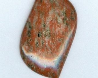 54mmx 30mm Red Sesame Jasper Gemstone Freeform Focal Pendant Bead