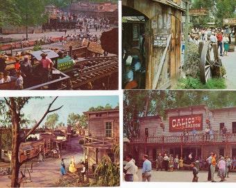 7 Vintage Knotts Berry Farm Postcards Los Angeles California