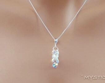 Swarovski Crystal Pendant on a Sterling Silver Chain