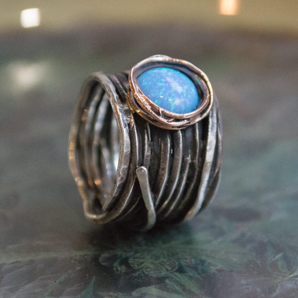 Bohemian ring opal ring hippie ring boho ring Silver Gold